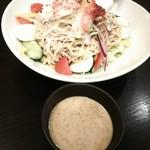 魚や一丁 - 名物 ラーメンサラダ(贅沢盛り)