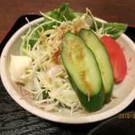 鶴べ別館 - 野菜サラダは別盛り