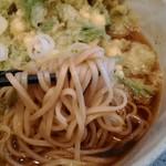 甲斐そば - 麺アップ