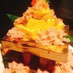 北海道海鮮・個室情緒 ~23番地~ - 蟹ぶっかけ 出汁巻き玉子
