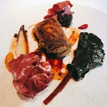 83680996 - ★6.5Slow Cooked Duck Leg Clementine, Beetroot and Endive
