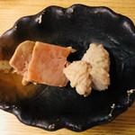 和洋酒菜 ひで - あん肝のパテと鰆の白子