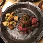和洋酒菜 ひで - 上州牛のサガリステーキと朝堀タケノコ