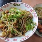 神楽亭 - 和牛ホルモン丼 スープ・キムチ付 850円(税別)