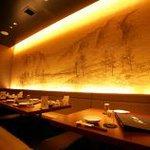健康中華庵 青蓮 - 掘りごたつの座敷席は宴会に最適★オープンしたまもなくの店内は間接照明でとてもおしゃれ♪