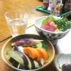 三国屋 - 料理写真:お新香、まぐろプツ