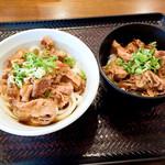香川製麺所 - 肉ぶっかけ冷とミニ牛丼