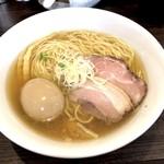 かしわぎ - 塩ラーメン(680円)+味玉(100円)