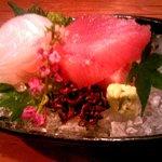 旬味 心和 - 造り(お造り2種盛り) マグロ・サワラ