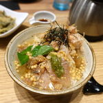 こめらく たっぷり野菜とお茶漬けと。 - 宇和島カンパチ・あじのりゅうきゅうごはん 1480円 + ご飯大盛 100円