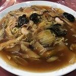 レストラン三國 - 五目焼きそば980円、お昼はスープ、コーヒー付き