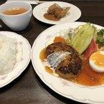 ぼんじゅーる - セットb ハンバーグと京都豚の肉巻き
