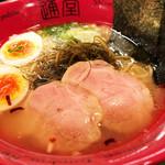 琉球新麺 通堂 - うま塩らーめん おんな味味玉入り 切り昆布の歯ごたえよいです
