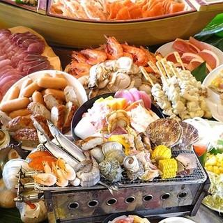 ★牡蠣・帆立・ハマグリetc浜焼きが食べ放題♪2480円