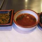 ステーキハウス おおくぼ - ニラタレ、ポン酢、塩