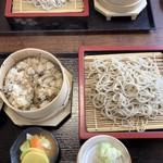 富田茶屋 - 料理写真:盛り蕎麦とわっぱ飯セット  1200円