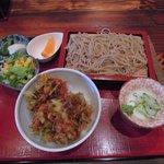 香車 - ランチのかき揚げ丼&そばセット