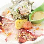 【選べる定食】①長浜市場名物 本日の海鮮薄造り