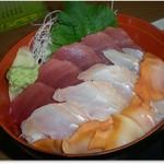 どんぶり亭 松本 - H30.3 まぐろ、ひらめ、赤貝の勢揃い
