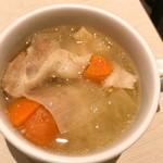 洋食屋さん - セットのスープというか、豚汁