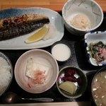かわはら - 焼き鯖定食950円