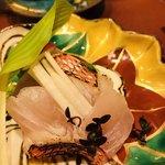 天麩羅 吉祥 - 10日間熟成させた金目鯛のお造り