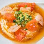 【選べる定食】⑬海老とトマトの玉子炒め ~中華あんかけ~