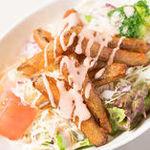 【選べる定食】㉒明太マヨとゴボウの唐揚げサラダ