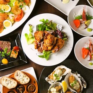 北海道食材をふんだんに使った和洋料理の数々で大満足