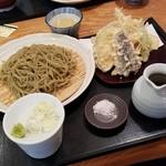 つちや - 「野菜天もりそば (1180円)」