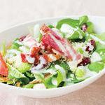 【選べる定食】㉖カリカリベーコンとホウレン草のサラダ