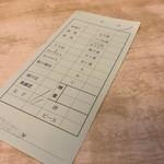 茅場町鳥徳 - 茅場町鳥徳(東京都中央区日本橋茅場町)伝票