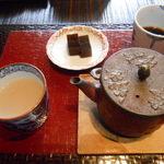 83727625 - 蕎麦湯&コーヒー寒天♡