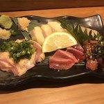 日本酒バル米酒 - 鶏の刺身