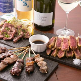ワインの種類を豊富に取り揃えます◎オススメの牛串とご一緒に♪