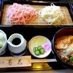 蕎花 - 料理写真:二色せいろ+ミニ天丼!
