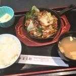 居酒屋 まる和 - 180320火 東京 まる和 回鍋肉定食690円