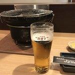 焼肉酒楽JyuJyu - スーパードライ。extra cold.