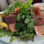 煮こみや なりた - カモとフォアグラのサラダ