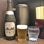麺屋りゅう - 瓶ビール + 水