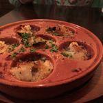 ピアット - ホタテ貝柱のガーリックバター焼