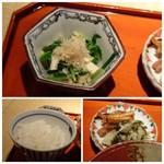 83747764 - ◆野菜とお揚げの炊き合わせ ◆ご飯はツヤがあり美味しい。 ◆香の物