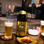 鉄板焼 広島お好み焼 ぶち - ビールで乾杯♪