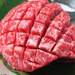 炭火焼肉 ごえ門 - 「芯モモステーキ」 肉厚ジューシー!    赤身の旨みをお楽しみください\1280