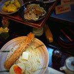 活麺富蔵 - 竹玉天付き釜バター