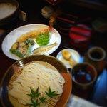 活麺富蔵 - 天ぷら付ざる盛