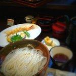 活麺富蔵 - 料理写真:天ぷら付釜揚げ