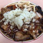 83750965 - チャーシュー麺+薬味の玉ねぎ