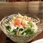 ノラリ&クラリ - ドレッシングも美味しい、野菜サラダ(2018.4.7)