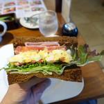 むさしの森珈琲 - ボンレスハム&エッグサンドモーニング626円